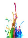 Fototapety Colorful paint splashing