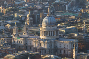 Aerial view of St. Paul's cathedral