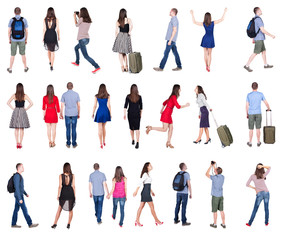 "collection "" back view of people ""."