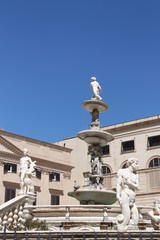Fountain in Piazza Pretoria (Square of shame), Palermo