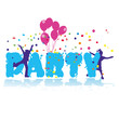 party, kids, ballons, confetti, event, birthday, vector