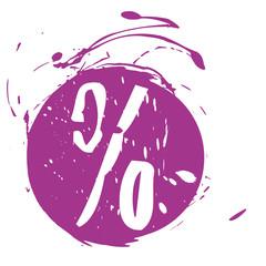 Prozente, Rabatte, Button, Aufkleber, Grunge, lila