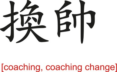 Chinese Sign for coaching, coaching change