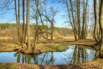Spring in Europe. HDR photo