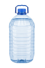 Large plastic bottle with water on white background