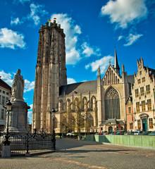 Grote Markt in Mechelen, Belgium