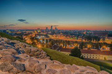 Aerial view of Vilnius, capital city of Lithuania