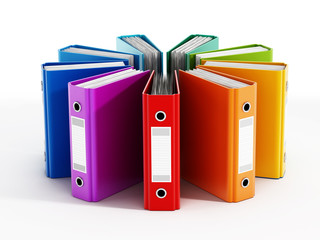 Multi-colored folders