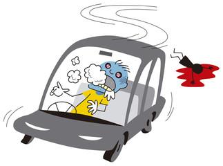 薬物中毒にも関わらず運転する男