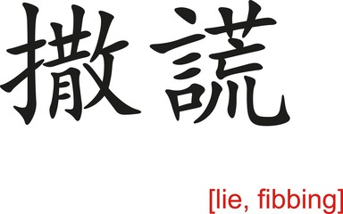 Chinese Sign for lie, fibbing