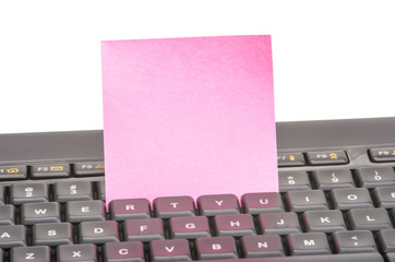 Paper note on keyboard