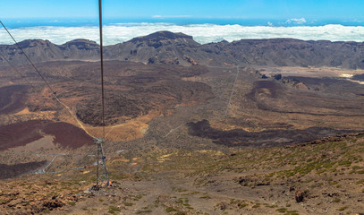Climb of the Teide volcano in a cable railway