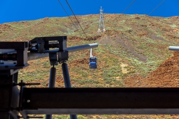 Cable railway to the top of the Teide volcano in Tenerife