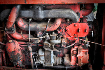moteur de tracteur