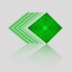 Abstract Geometric Green Triangle Pattern