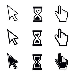 Cursors vector icons