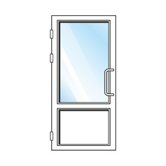 Vector glass door