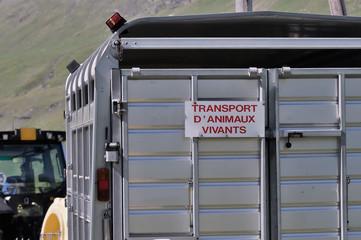 transport d'animaux,remorque,tracteur