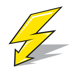 Vector lightning sign