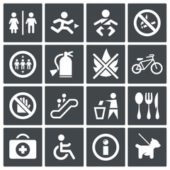 Vector International signs icon set