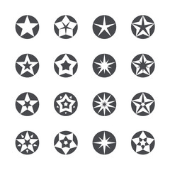 Vector stars set icons