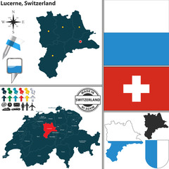 Map of Lucerne, Switzerland