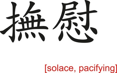 Chinese Sign for solace, pacifying