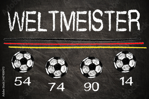 canvas print picture Weltmeister 54 74 90 14