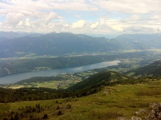 View From Alp Millstatt To Lake Millstatt and Mt. Goldeck