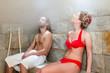 Paar im Wellness Spa Dampfbad Hamam