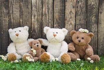 Freunde oder Konzept Freundschaft: Teddybären als Familie