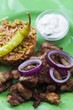 griechische Gyros auf einem Teller