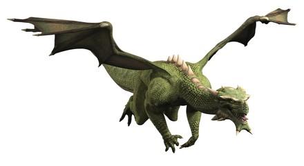 Green Dragon in Flight