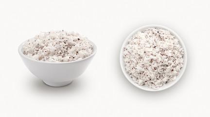 coconut powder isolated on white background
