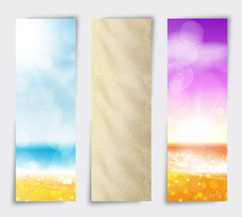 Set Banner Summer beach