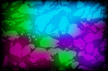 Vector colorful background with grungy texture overlay on top of