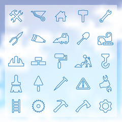 25 construction icons set
