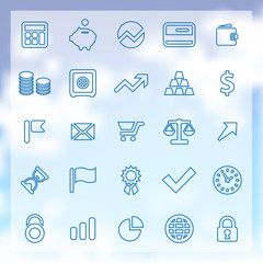 25 finance icons set