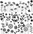 Black floral set - 67411829