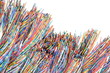 Leinwanddruck Bild - Colored cables in the global networks