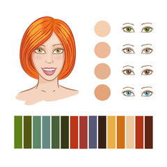 Girl autumn color type