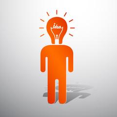 lamp head human