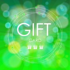 Beautiful gift card, vector illustration.