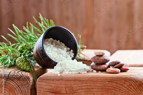 Sea salt with coniferous aroma - 67413462