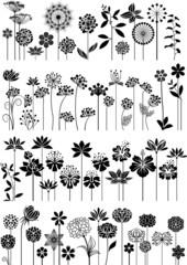 Decorative flowers set