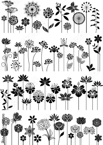 Decorative flowers set - 67413890