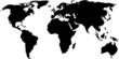 Zdjęcia na płótnie, fototapety, obrazy : black world map