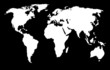 white world map and the black background