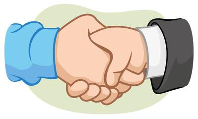Caricature Handshake
