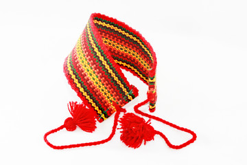 red armband in the Ukrainian style
